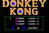 Donkey Kong Apple II Title screen