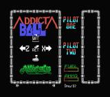 Addicta Ball MSX Title screen and instructions