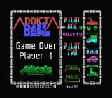 Addicta Ball MSX I lost all my lives. Game over.