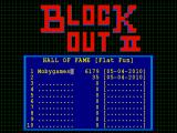 BlockOut II Windows Score table