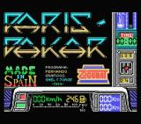 Paris-Dakar MSX Title screen and credits