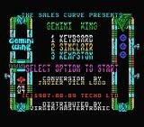 Gemini Wing MSX Title screen and main menu