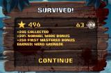 ZombieSmash! iPhone Finished the level with a few bonuses.