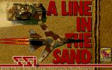 A Line in the Sand DOS The title screen
