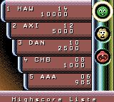 Marble Master Game Boy Color I made it onto the high scores list.