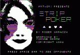 Strip Poker: A Sizzling Game of Chance Apple II Title Screen