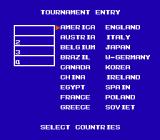 Final Lap NES Available countries in tournament mode.