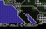 Roadwar 2000 Commodore 64 Main screen (the map)