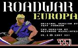 Roadwar Europa Commodore 64 Title screen