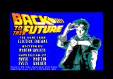Back to the Future Amstrad CPC Title screen and credits