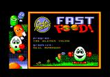 Fast Food Amstrad CPC Title and loading screen