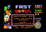 Fast Food Amstrad CPC Title screen and credits.