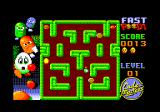 Fast Food Amstrad CPC A bottle is moving in the maze.
