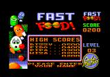 Fast Food Amstrad CPC I can enter my name for the high scores.
