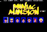 Maniac Mansion Apple II Title screen and main menu