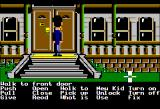 Maniac Mansion Apple II Entering the mansion