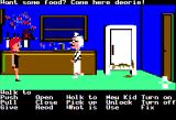 Maniac Mansion Apple II Razor in the kitchen with Edna
