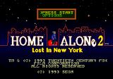 Home Alone 2: Lost in New York Genesis Title screen