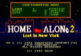 Home Alone 2: Lost in New York Genesis Configuration menu