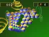 Q*Bert PlayStation Level with a top view