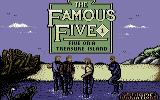 The Famous Five: Five on a Treasure Island Commodore 64 Title screen