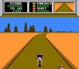 Mach Rider NES Racing down the road