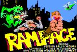 Rampage Apple II Title screen