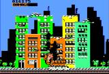 Rampage Apple II A building crumbles...