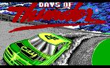 Days of Thunder DOS Title Screen (EGA)