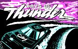 Days of Thunder DOS Title Screen (CGA)