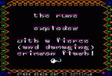 Ali Baba and the Forty Thieves Apple II Runes pop up full screen text throughout the game