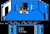 Infiltrator Apple II Gasing a guard.
