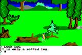King's Quest Apple II A rotten log.
