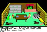 King's Quest Apple II Talking with the poor folks who live in the cabin.
