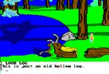 King's Quest II: Romancing the Throne Apple II A hollow log.