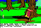 King's Quest II: Romancing the Throne Apple II A pesky little dwarf is nearby!