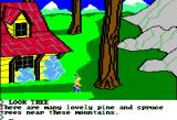 King's Quest II: Romancing the Throne Apple II Near a mountain.