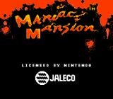 Maniac Mansion NES Title screen