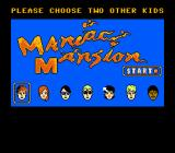Maniac Mansion NES Choosing the two supporting characters