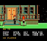 Maniac Mansion NES In front of the mansion