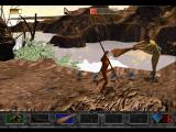 Time Commando PlayStation Smashing a caveman on the head with a large club.