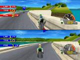 Moto Racer PlayStation Two-players horizontal split screen