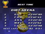 Moto Racer PlayStation Track best times