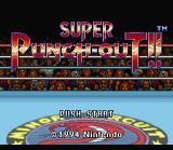Super Punch-Out!! SNES Title Screen