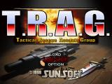 T.R.A.G.: Tactical Rescue Assault Group - Mission of Mercy PlayStation Main menu