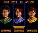 3 Ninjas Kick Back SNES Player Select Screen