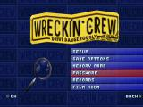 Wreckin Crew PlayStation Options menu