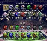 ABC Monday Night Football SNES Team selection screen