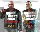 Grand Theft Auto: Episodes from Liberty City Windows Title screen where the player chooses the episode he wants to play