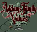 Addams Family Values SNES Title Screen